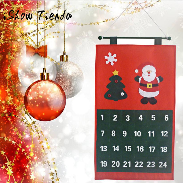 Countdown Natale.Us 5 86 9 Off Merry Christmas Santa Christmas Tree Decor Calendar Advent Countdown Calendar Natale Ingrosso Christmas Decorations For Home In