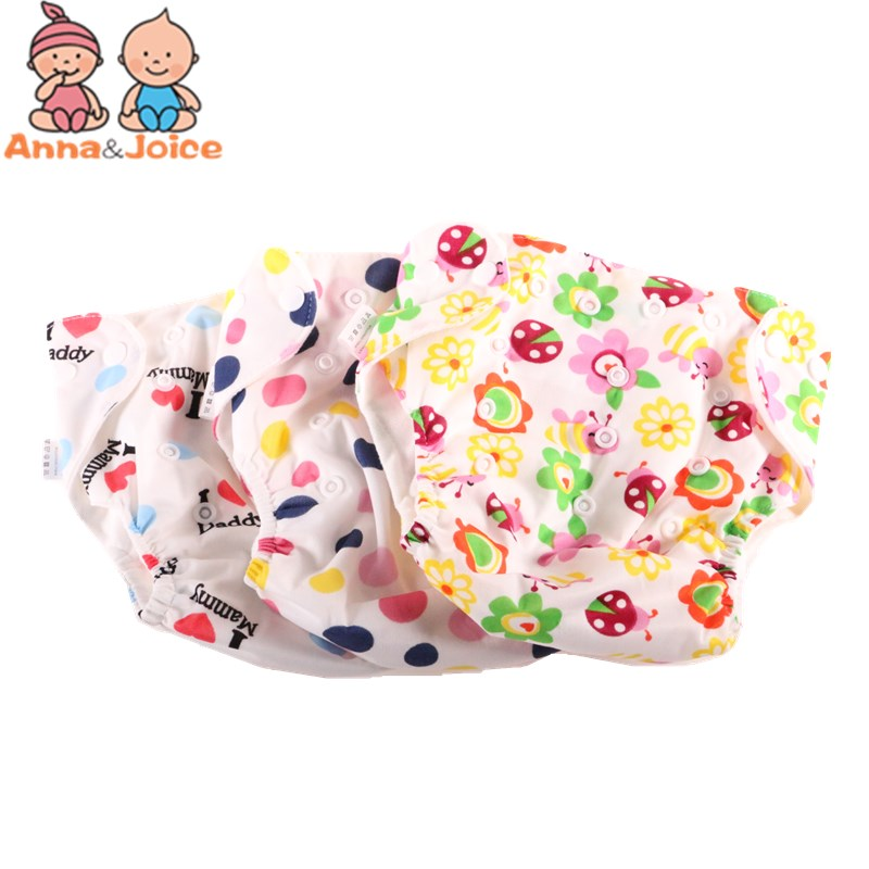 30pcs/lot Newborn Baby Diaper Reusable Nappies Training Pant Children Changing Cotton Free Size Washable Diapers(China)