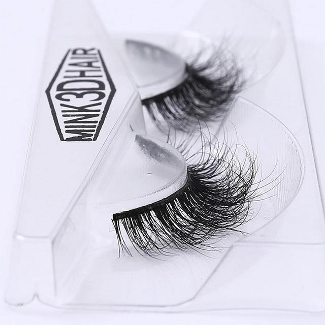 3D Mink Eyelash Real Mink Handmade Crossing Lashes Individual Strip Thick Lash Fake Eyelashes A02 2