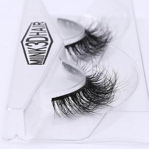 Image 3 - 3d vison cílios real vison artesanal cruzando cílios tira individual grosso chicote cílios falsos a02