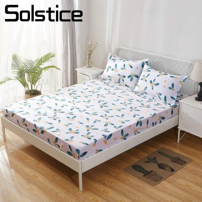 Solstice maison Textile coton 100% literie drap housse Loquat bande dessinée lit couvre-matelas appliquer à 5-25 cm 120/150/180*200 cm 1 pièces