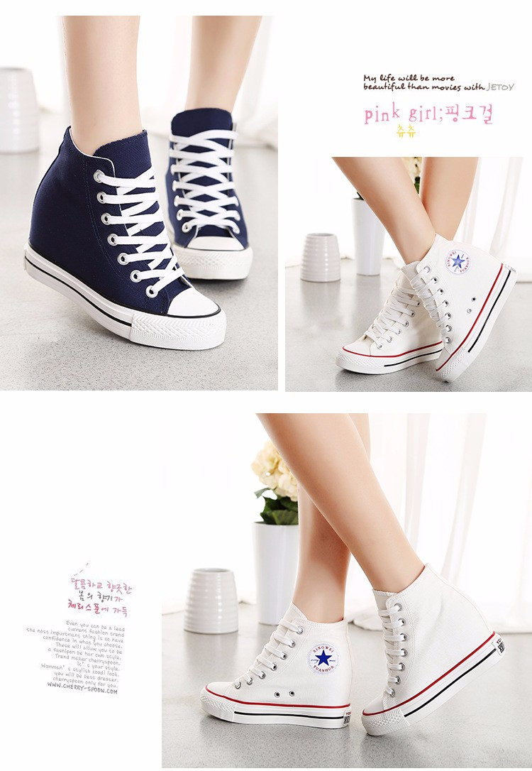 KUYUPP High Top Canvas Women Shoes Espadrilles Spring Autumn Womens Wedges Shoes Lace Up Casual Shoes For Female Sapatilha YD120 (14)