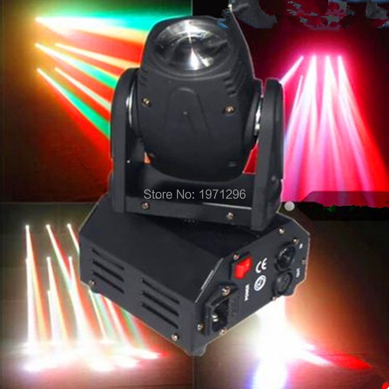 ФОТО Fast shipping Mini LED 10W RGBW Beam moving head light beam High Power Light with Professional for Party KTV Disco DJ