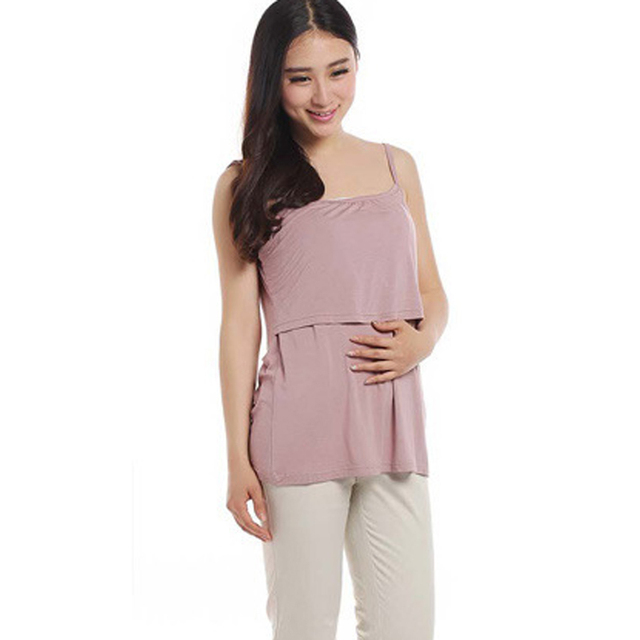 Maternity Clothes Summer Modal tank top Maternity tops Nursing Top Breastfeeding tops pregnancy clothes for Pregnant Women Camis