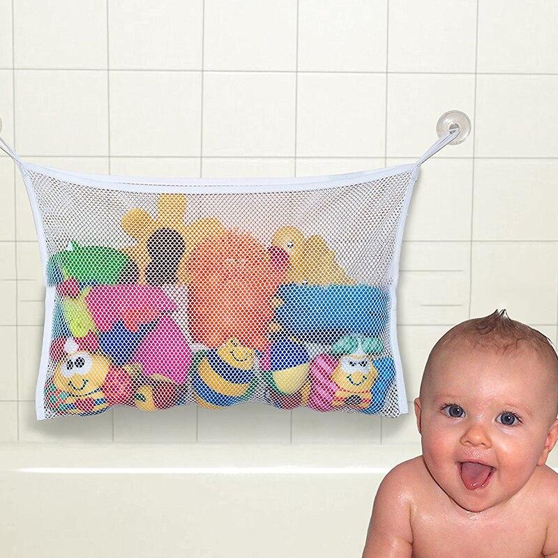 Baby Bath Toy Mesh Bag Bathtub Doll Organizer Suction Bathroom Bath Toy Stuff Net Baby Kids Bath Bathtub Toy Bath Game Bag Kids