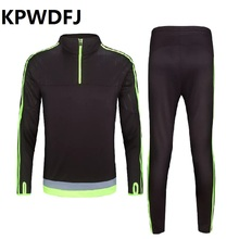 High-quality New Arrival Soccer Jersey Set Youth Kids Football Kits Men Futbol Training Suit Blank Breathable Long Sleeve Sets