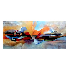 handpainted Lord Buddha Abstract Oil Painting on Canvas Religious oil painting Cuadros Wall Art Pictures For Bedroom living room