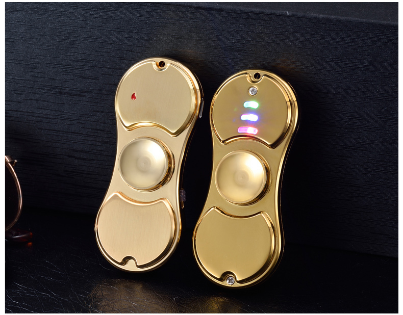 1 Piece Sale Hand Spinner Fridget Spinner Glowing New Design Electronic Cigarette Lighter Finger Toy Games Accept Logo Custom