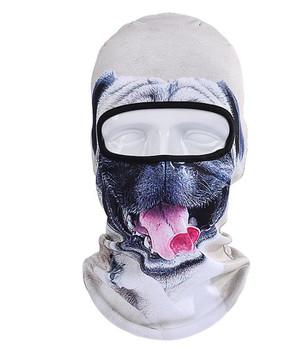 ICESNAKE 3D maski motocyklowe czapka pies zwierząt Outdoor Sports rowerowa jazda na rowerze Ski Hood Hat Veil kominiarka maska pełnotwarzowa tanie i dobre opinie Szybkie suche Anty-uv Oddychające Wiatroszczelna 45*26cm (One size fits all) Skiing Motorcycling Running Biking Trekking M