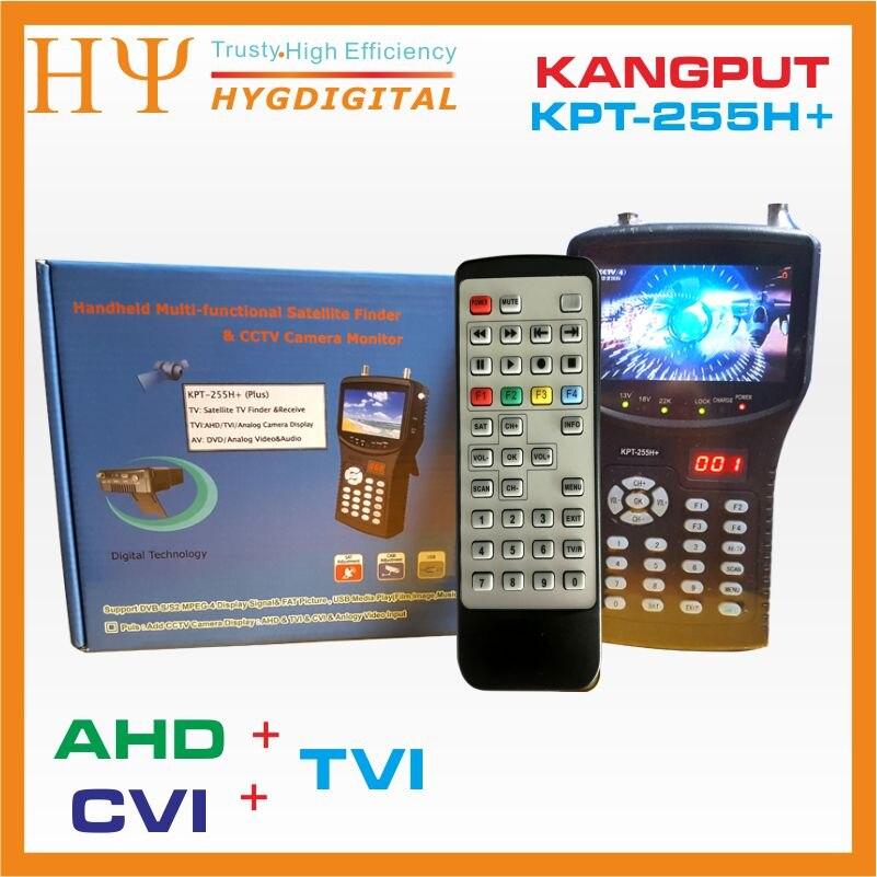 [Genuine] KPT-255H+ AHD TVI CVI DVB-S2 Digital Satellite Finder Meter CCTV camera lcd backlight kpt-255h plus button 4.3 inch original dvb t satlink ws 6990 terrestrial finder 1 route dvb t modulator av hdmi ws 6990 satlink 6990 digital meter finder