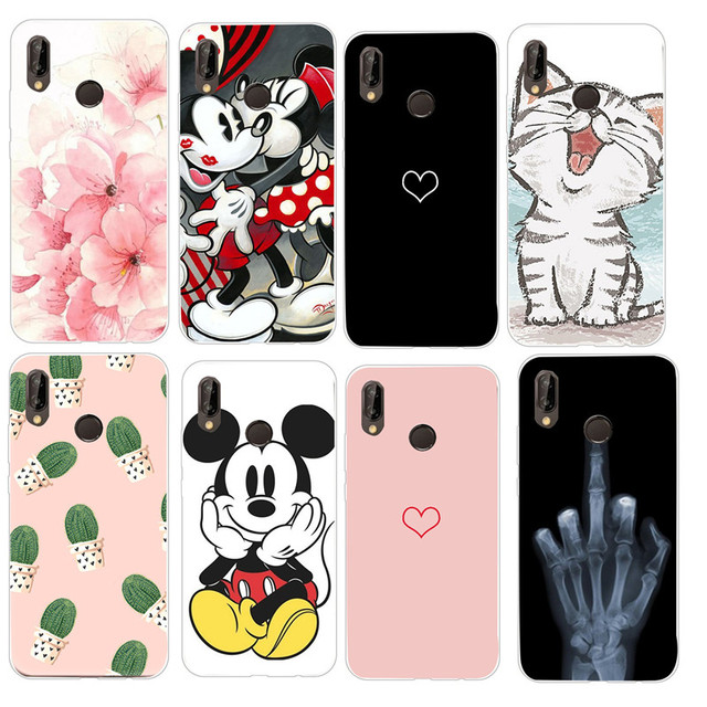 the best attitude d4fc1 3787e US $0.88 34% OFF|Cases For Huawei P20 Pro Lite Phone Cover for Huawei p20  lite p 20 pro mate 10 lite back case silicone cover fundas-in Fitted Cases  ...