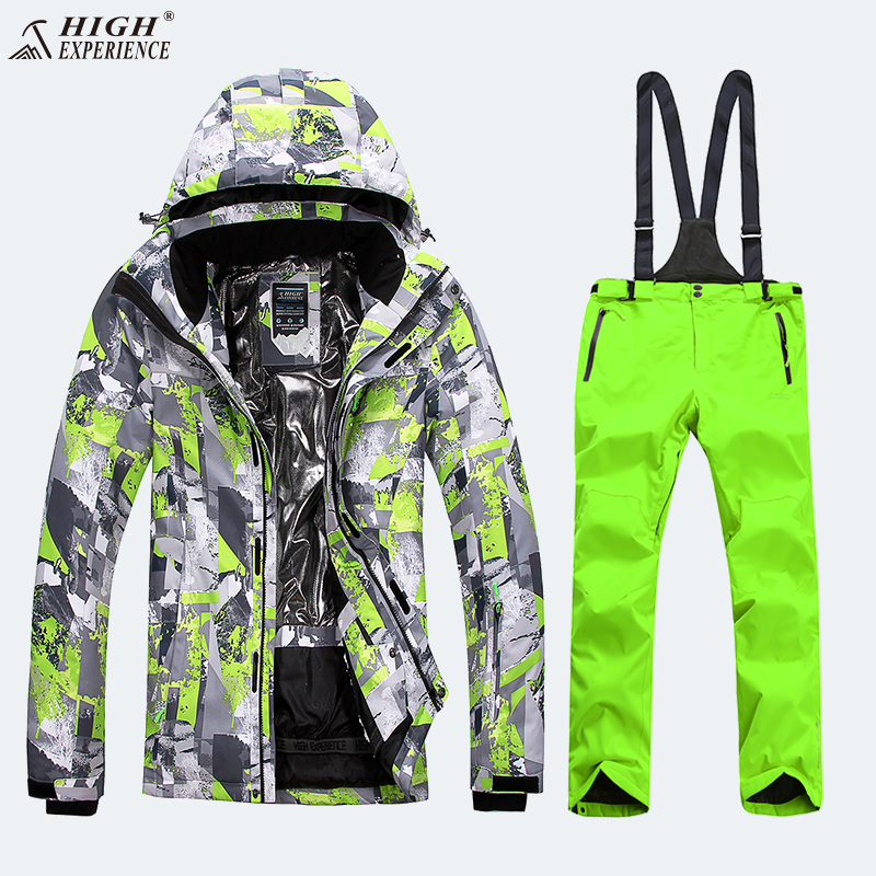Ski Suit Men Snowboard Jacket Snow Pants Winter Ski Suit Snowboard Suits Men Thicken Men's Ski Jacket Winter Sport Suit Snowsuit