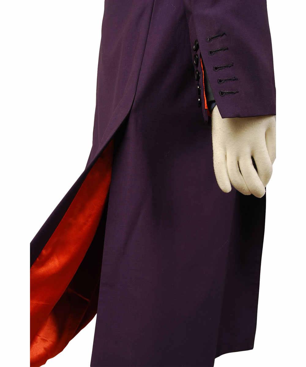Details about  /Batman Dark Knight Joker Costume Set Coat Halloween Stage Daily Gabardine 6pcs