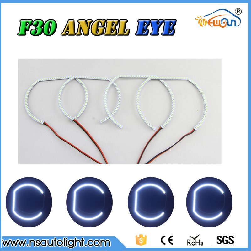 ФОТО Horseshoe shape 2835 RGB Multi-Color LED  remote control  led Angel Eyes kit  for BMW F30 F31  F82 M3 M4  free shipping