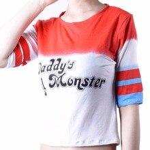 Comando suicida Harley Quinn T-shirt Ropa del Traje de Halloween de Anime Mujeres Camiseta Shorts Camisetas de Películas de Batman Cosplay Tops Tee