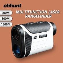 Cheapest prices ohhunt Hunting Laser Rangefinders 600M 800M 1500M Multifunction Laser Range Finder Diastimeter Measure Laser Distance Meter