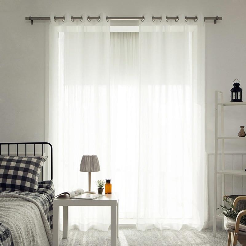Organza Vorhänge für Wohnzimmer Feste Farben Sheer home Moderne - Haustextilien - Foto 3
