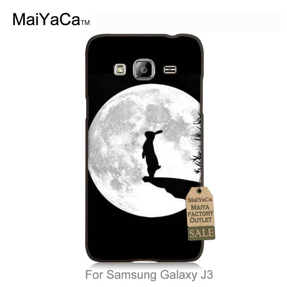 Maiyaca Хит продаж дизайн моды кожа тонкий ПК ячейки для случая Galaxy J3 2015 кролик на Луне