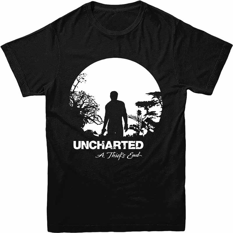 Shirt Design Crew Neck Men Short Sleeve Uncharted 4 T-Shirt T Shirts