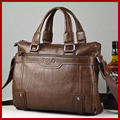 2015 marca de fábrica famosa POLO hombres de moda Messager de negocios bolsas de cuero genuino bolso de la cartera retro, hombre viajes bolsas para portátiles