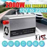 KROAK 2000 W DC 12 V à AC 220 V USB voiture onduleur chargeur convertisseur adaptateur DC 12 à AC 220 transformateur à onde sinusoïdale modifiée