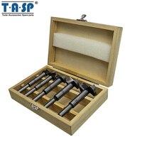 TASP 5 шт., пробочное сверло для бурения по дереву, Самоцентрирующийся станок для резки отверстий, набор инструментов для деревообработки-MDBK009