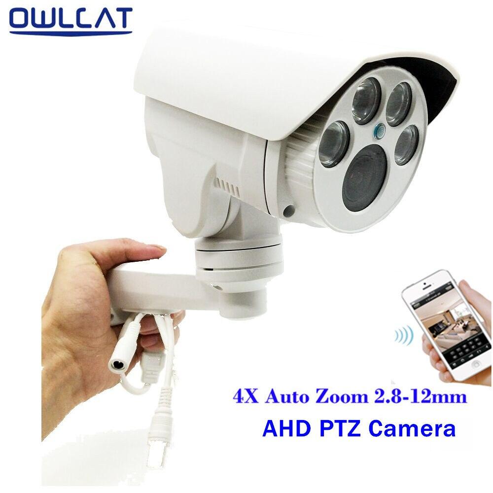 bilder für OwlCat Full HD 1080 P 960 P Kugel AHD Kamera 2MP 1.3MP 4X optische Motorisierte Auto Zoom Objektiv 2,8-12mm Objektiv PTZ CCTV Überwachungskamera