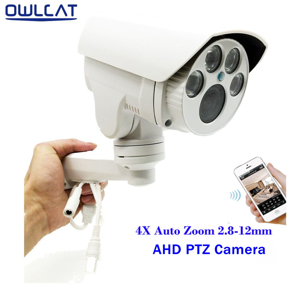 OwlCat Full HD 1080P 960P Bullet AHD Camera 2MP 1.3MP 4X Optical Motorized Auto Zoom Lens 2.8-12mm Lens PTZ CCTV Security Camera