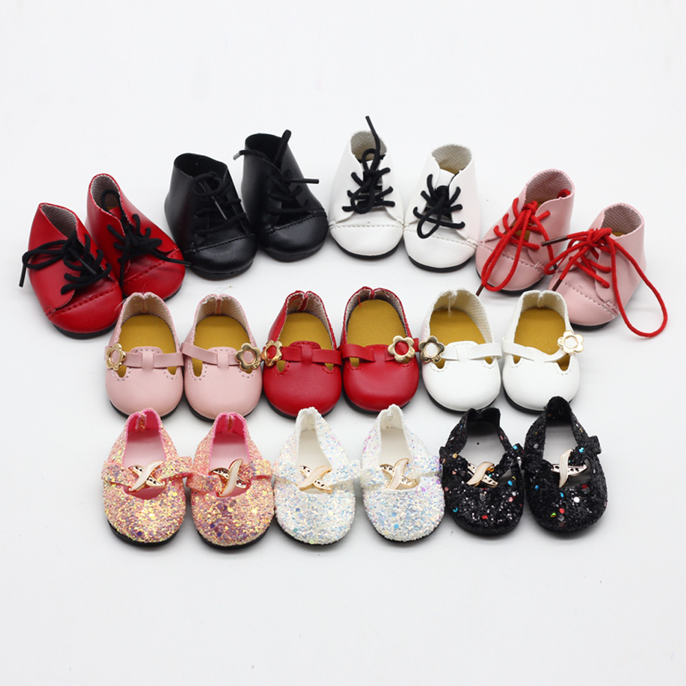Fashion Princess Shoes for 18 Inch BJD Doll Accessories Toys for Girls Christmas Gift for Kids Toys fashion bjd dolls zipper bag backpack for 18 inch bjd doll accessories toys for girls christmas birthday gift for kids toys