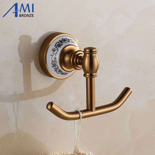 410aap Series Antique Brush Hook Aluminum Porcelain Base Clothes Bathroom Hardwares Accessories Robe Hooks