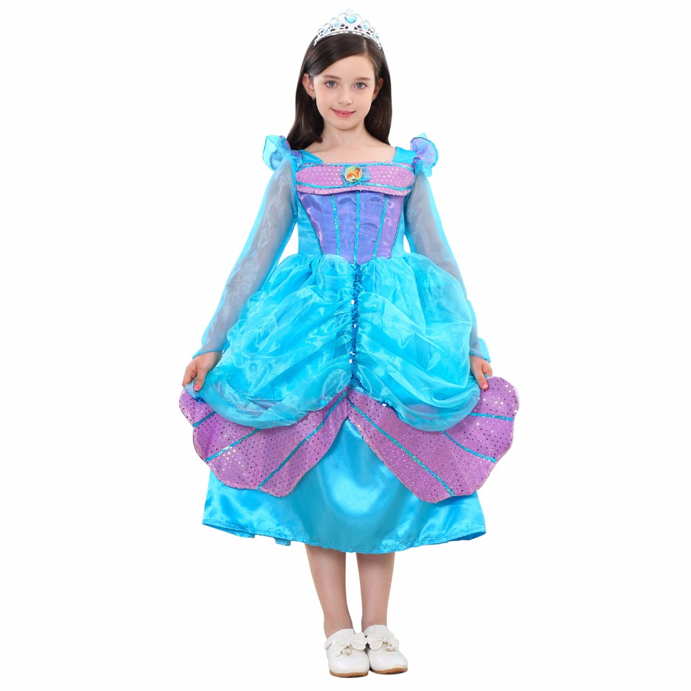 Princess Dress for Girl Wear Halloween New year Christmas party ...