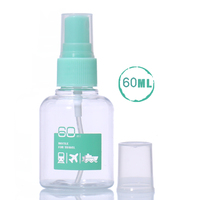 Malian Hot 1pcs 60ml Travel Transparent Plastic Perfume Atomizer Small Mini Spray Bottle Empty Makeup Container Makeup Tools