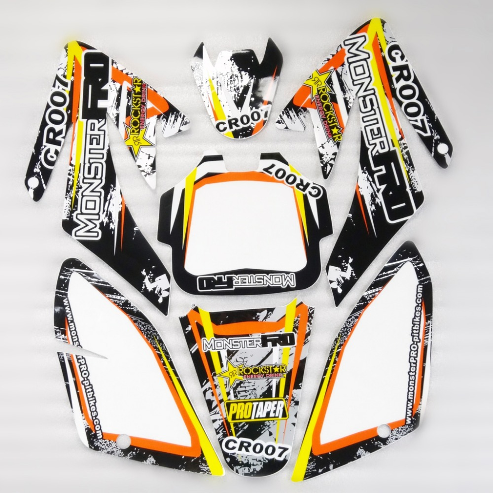 3m Crf70 Graphics Kit Decals Sticker For Honda Motor Dirt Pit Bike Stickers Design Dio Parts Yellowblack In From Automobiles Motorcycles On