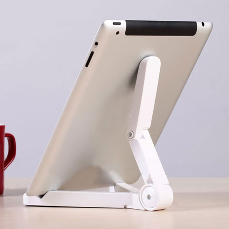 ET Universal Folding Tablet Phone Holder Justerbar Desktop Mount Stativ stativ Holder Support til iPad iPhone Bordstabilisator