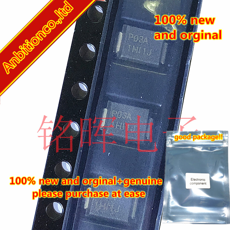 10-20pcs 100% New And Orginal P0300SALRP Silk-screen P03A SMB DO214AA Low Voltage Overshoot, Low On-state Voltage, Low Cin Stock