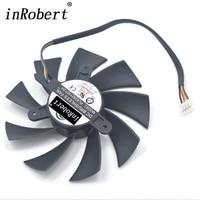 Bilgisayar ve Ofis'ten Fanlar ve Soğutma'de Güç Mantık 87 MM PLA09215D12H 0.55A Soğutucu Fan Için Değiştirin PowerColor HD 7870 7850 HD7800 Grafik Ekran Kartı Soğutma Fanı