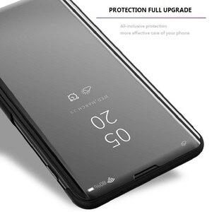 Image 3 - Étui à rabat intelligent pour Xiao mi 9 SE 6 étui de luxe pour mi mi x 3 2 Max 3 étui pour mi Note 3 A1 A2 5X 6X couvercle transparent