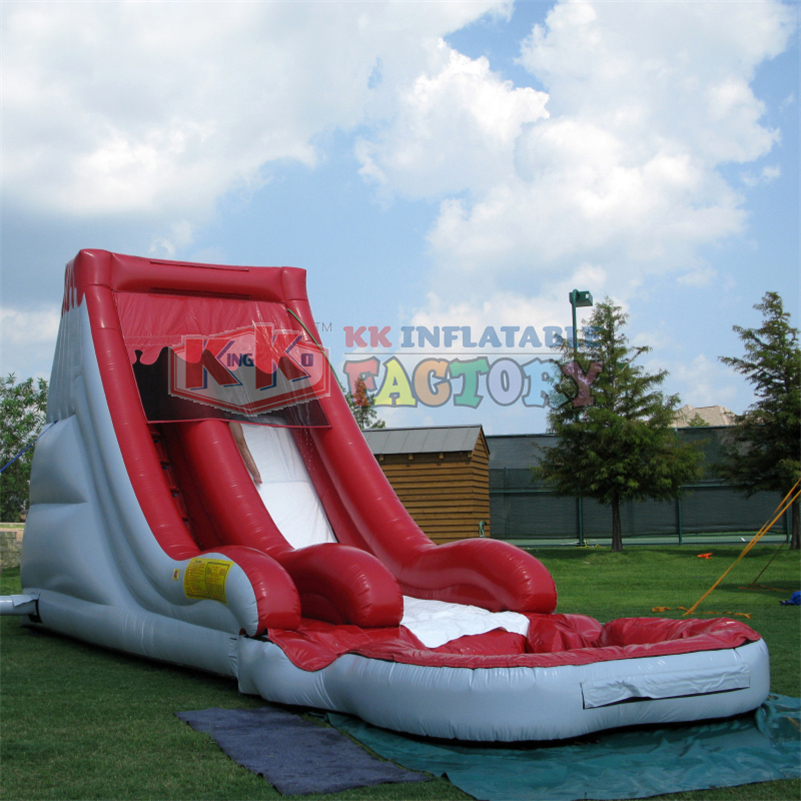 Backyard Use Water Slide With Pool Inflatable Water Slide Red Inflatable Water Slides