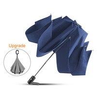 Dobrável guarda-chuva reverso guarda-chuva automático grande à prova de vento guarda-chuva de negócios dropshipping chuva feminino masculino carro paraguas