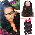 mslynn 360 Lace Frontal With Bundle Brazilian Body Wave With Closure,Pre Plucked 360 Frontal Lace Frontal Closure With Bundles