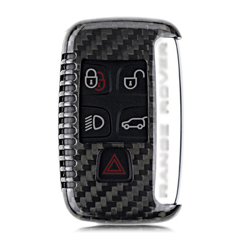 Teeze Brand New High Quality New Real Carbon Fiber Auto Remote Flip Key Fob Holder Skin Shell Case For Land Rover Series