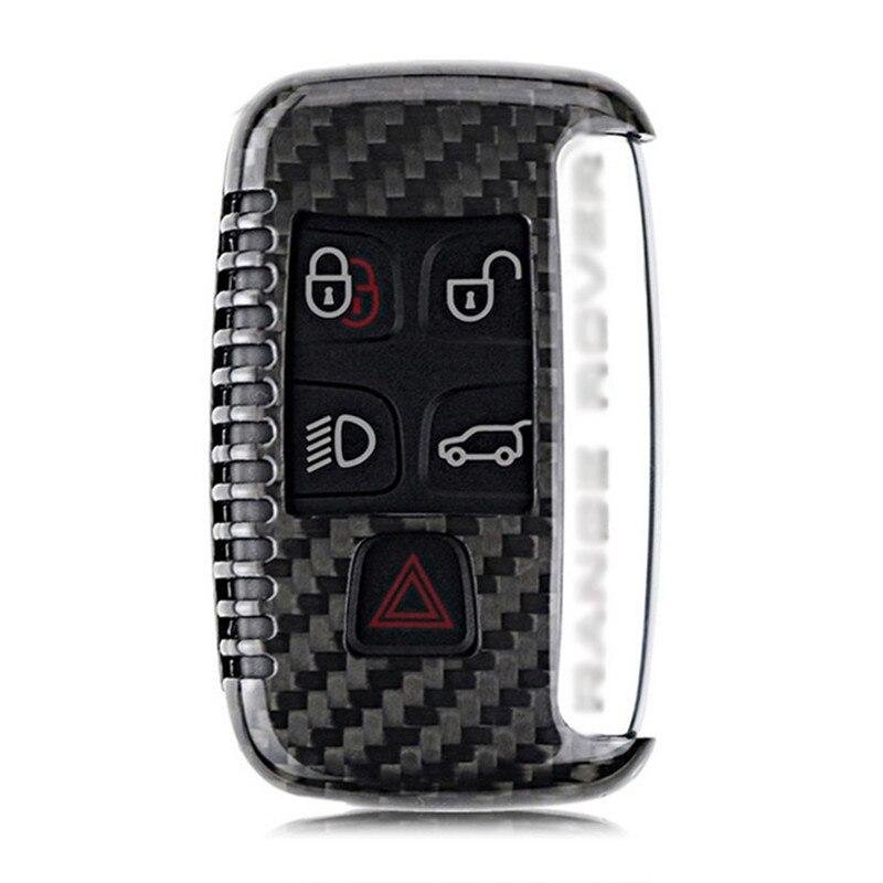 Teeze nouvelle marque de haute qualité nouvelle vraie Fiber de carbone Auto à distance Flip clé Fob titulaire peau coque étui pour Land Rover série