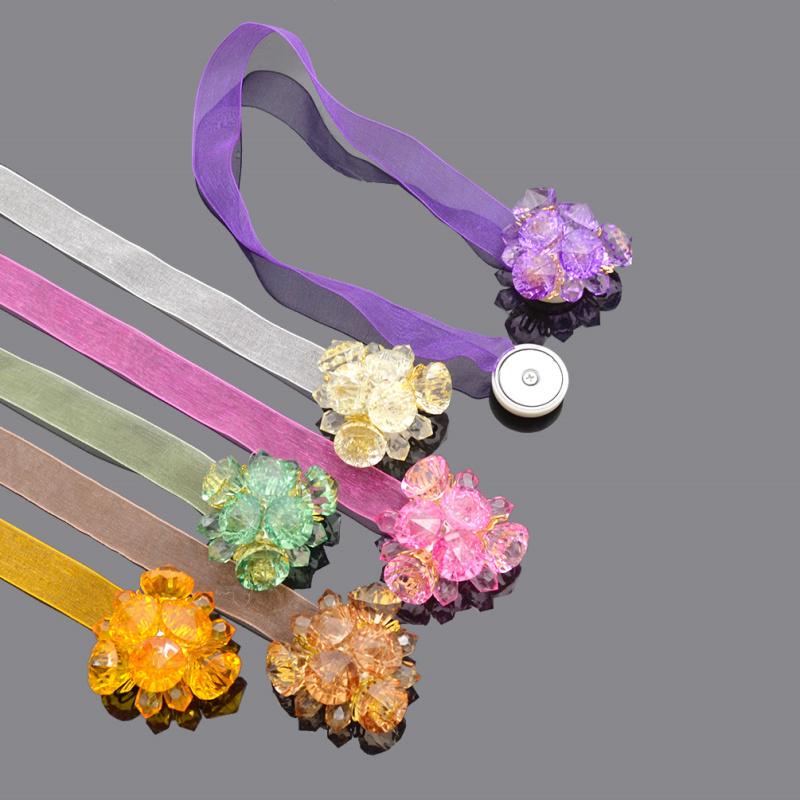 color strass forme de fleur ruban rideau embrasses retenue fentre dcoratifs pour la maison accessoires - Maison Colore Rideaux