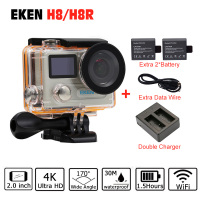 Action Camera Original EKEN H8 H8R VR360 Ultra 4K 30fps 14MP Dual LCD Mini Cam Go