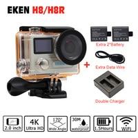 Action Camera Original EKEN H8 H8R VR360 Ultra 4K 30fps 14MP Dual LCD Mini Cam Go