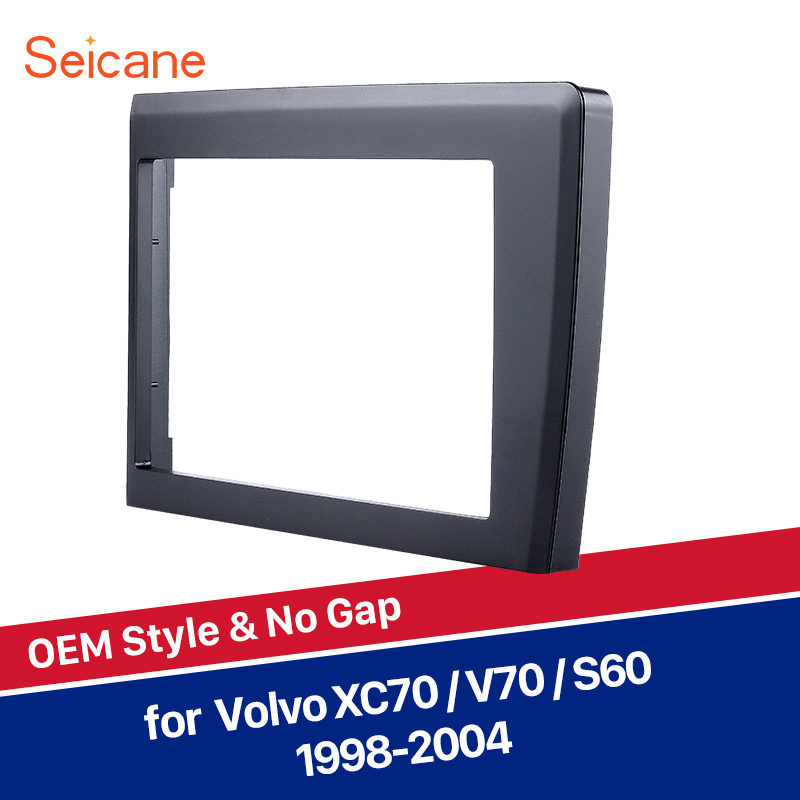Seicane 173*98mm Car Stereo Frame For 1998 2004 Volvo XC70