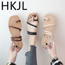 HKJL Fashion The of the 2019 summer open-toe flip-flops with personality womens fashion all-in-one wear flat sandals A240
