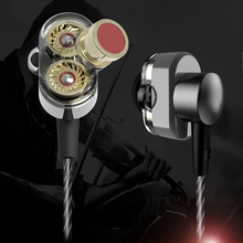 In-ear Earphone Dual Driver Extra Bass Wide Sound gaming headset Stereo sound music Earphones mp3 DJ fone de ouvido auriculares authentic astrotec gx40 professional sound noise isolating hifi music studio dj monitor in ear earphone headphone fone de ouvido
