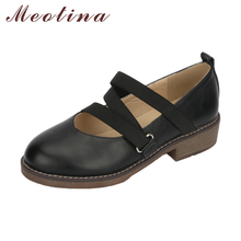 Meotina 2018 Spring Shoes Flats Women Elastic Band Shoes Casual Black Round Toe Sewing Shoes Ladies Large Size 42 43 Flat Female