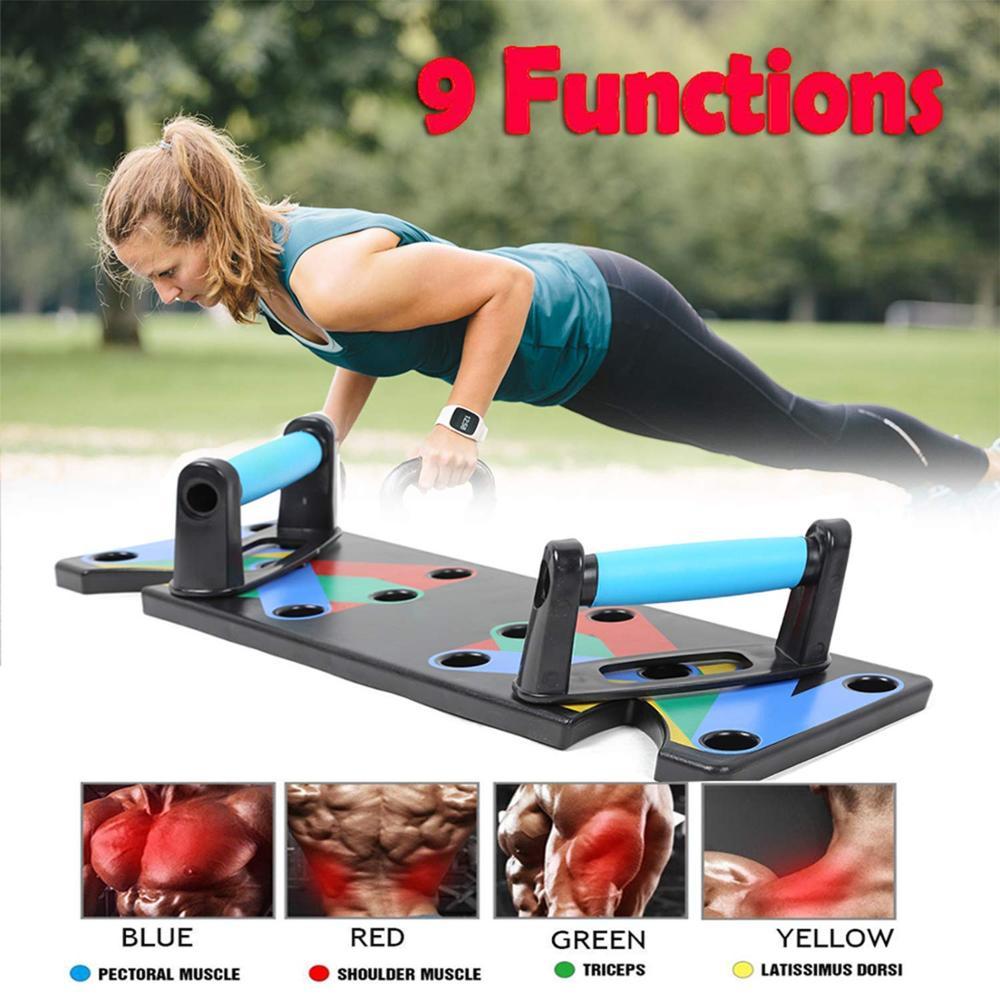 9 Em 1 Push Up Rack Board Das Mulheres Dos Homens Abrangente Exercício De Fitness Push-up Stands Sistema De Treinamento De Construção Do Corpo Equipamentos Domésticos